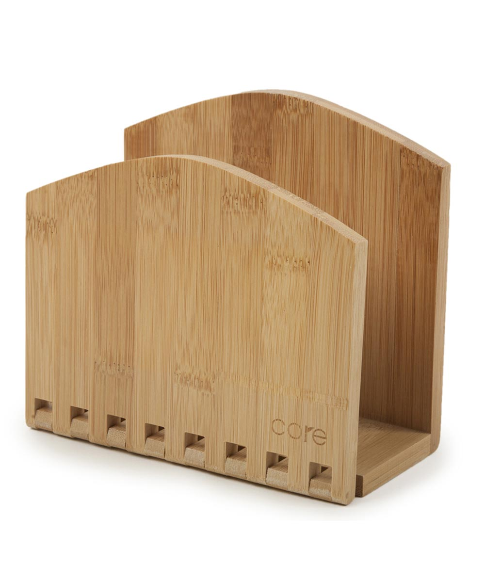 6.5 in. x 3.15 in. x 6 in. Natural Bamboo Expandable Napkin Holder
