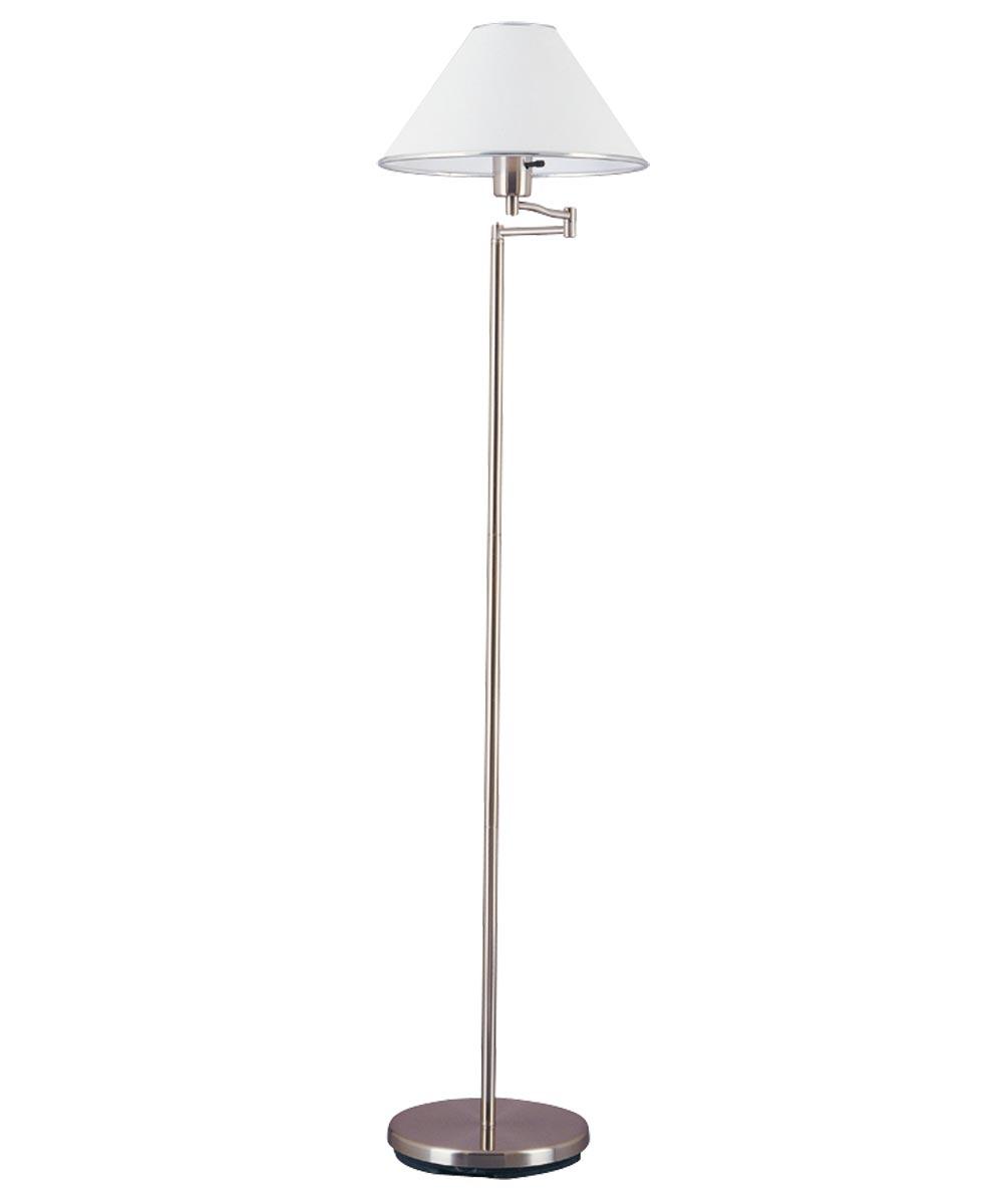 Boston Harbor Swing Arm Floor Lamp with Shade, Rust Patina