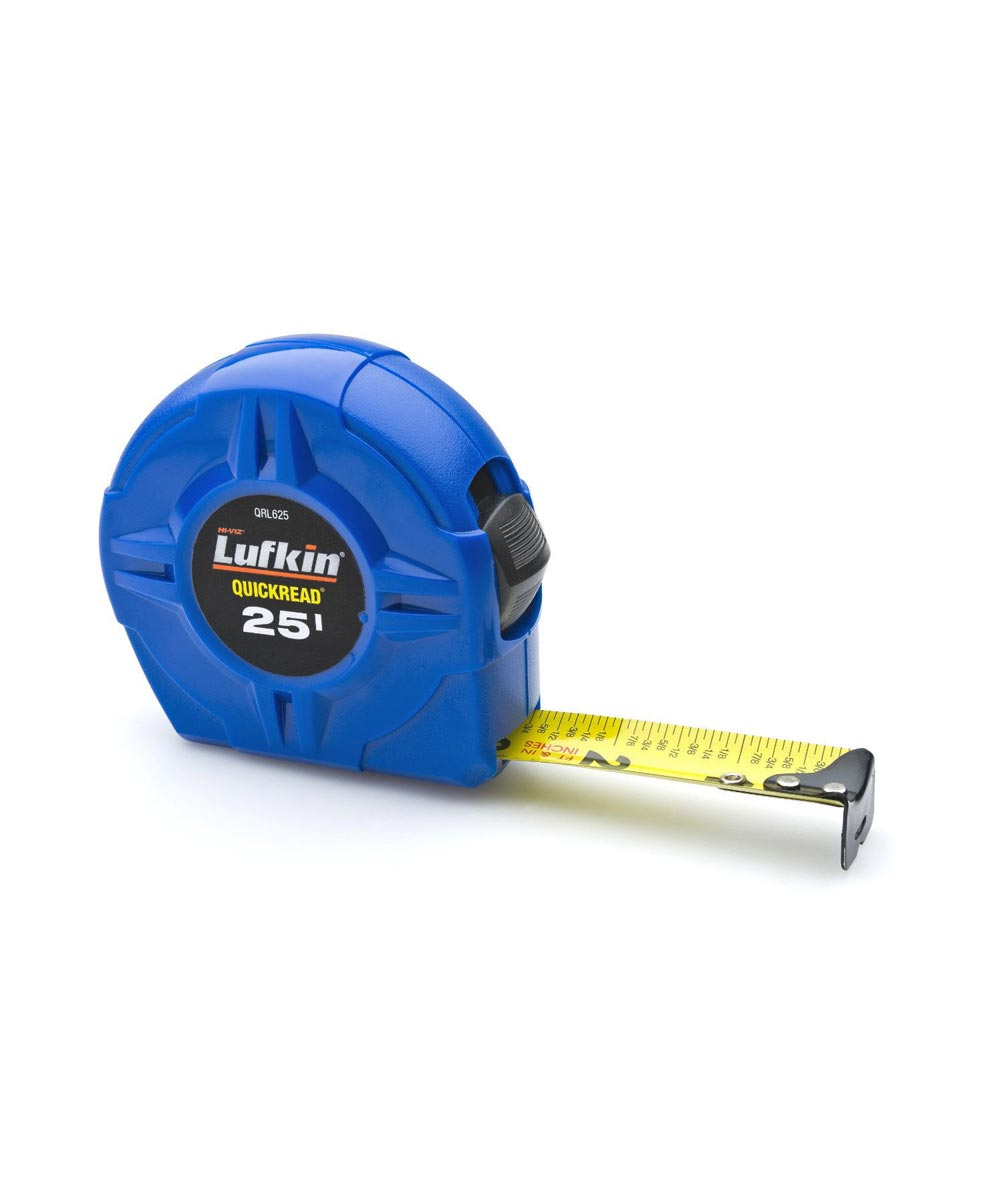 1 in. x 25 ft. Quickread Hi-Viz Blue Value Tape Measure