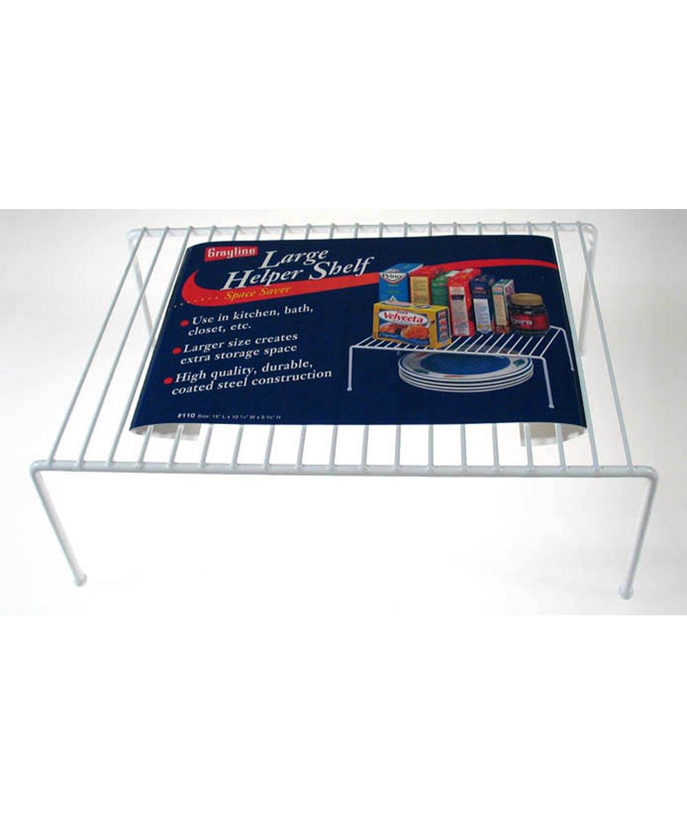 Large White Helper Shelf