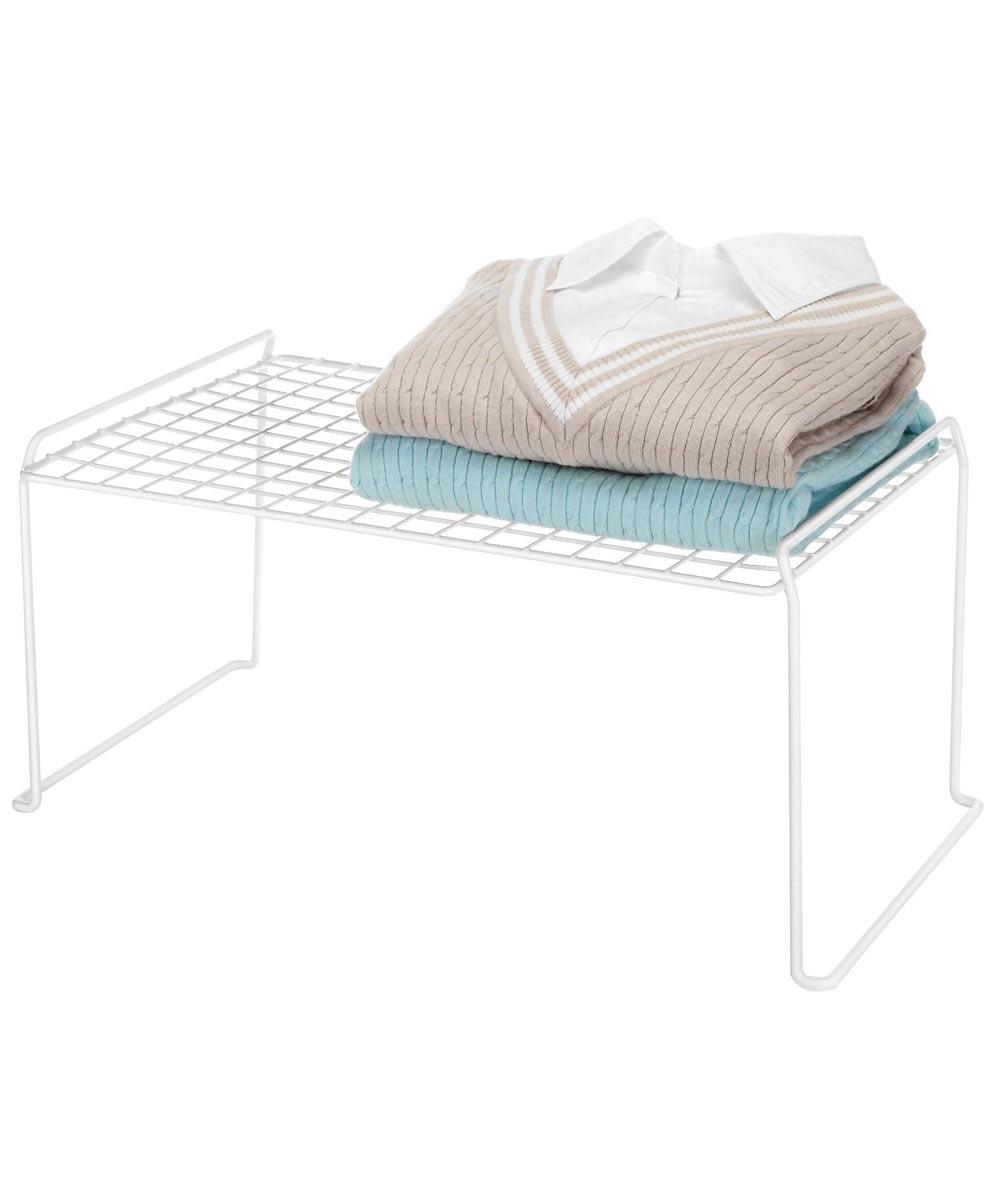 Medium White Stacking Storage Shelf