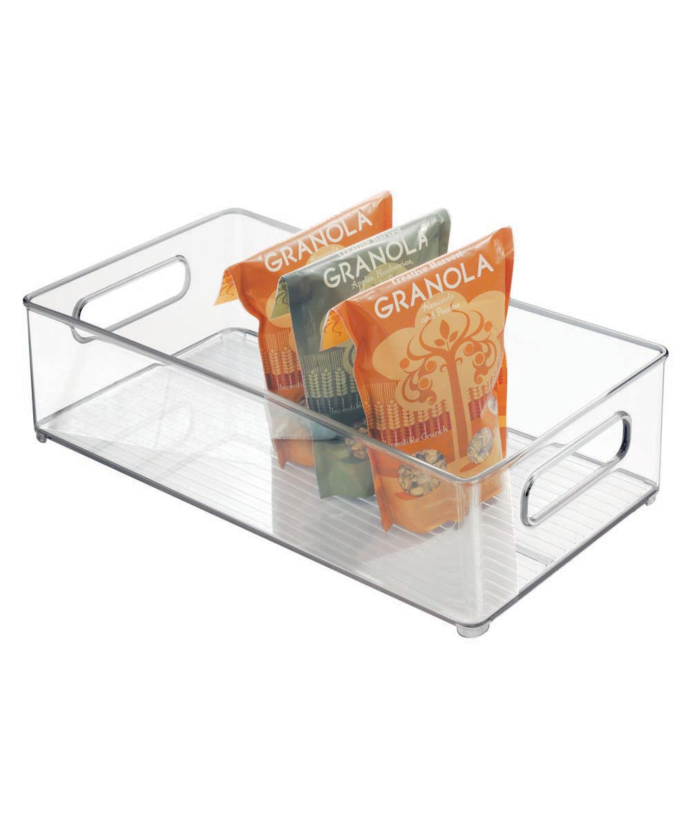 Fridge Binz Kitchen Organizer Bin, Clear, 8x4x14.5 Inches