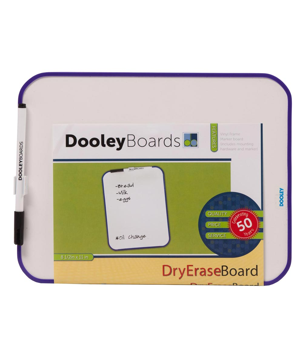 Vinyl Frame Dry Erase Board, 8.5x11 Inches, Assorted Colors