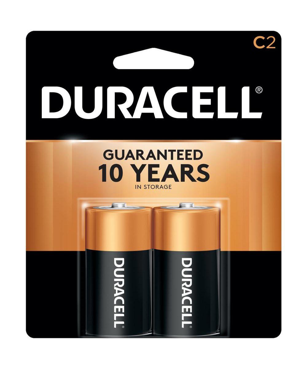 Duracell CopperTop C Alkaline Battery, 2 Pack
