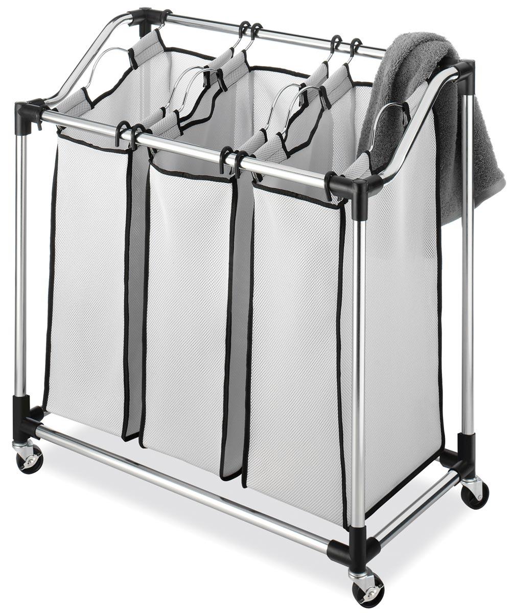 Chrome Laundry Sorter