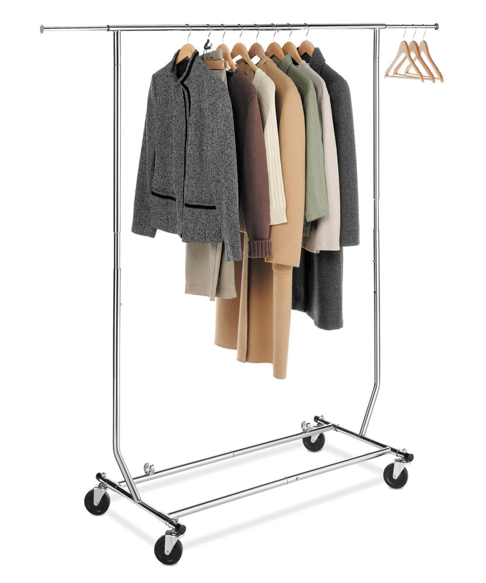 Chrome Commercial Folding Garment Rack