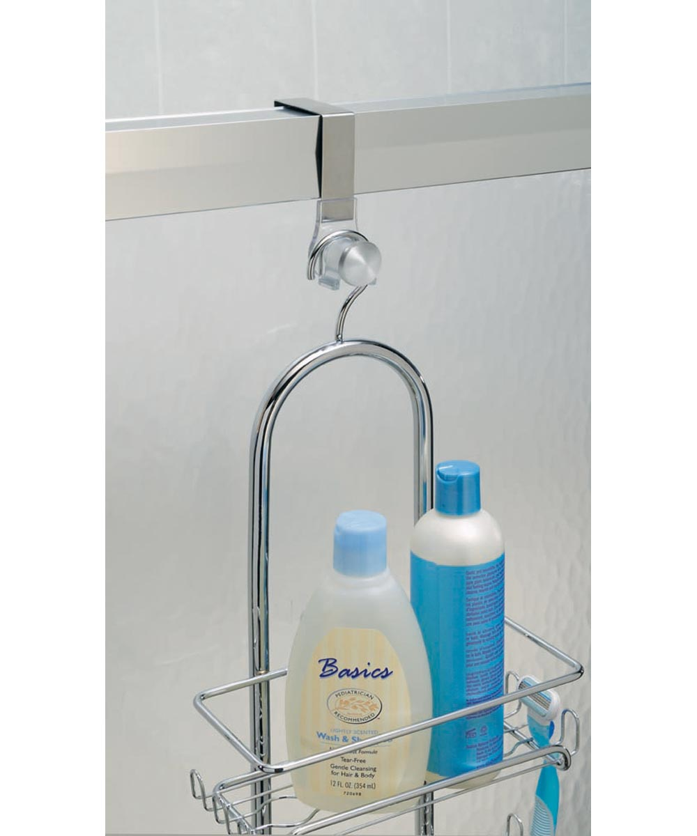 Forma Over-the-Shower-Door Caddy Hook, Stainless Steel & Plastic