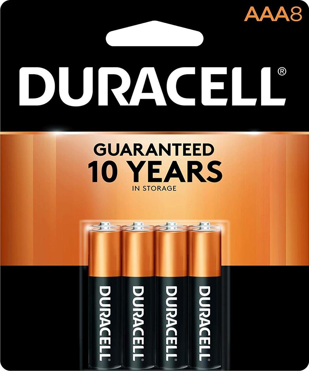 Duracell CopperTop AAA Alkaline Battery, 8 Pack