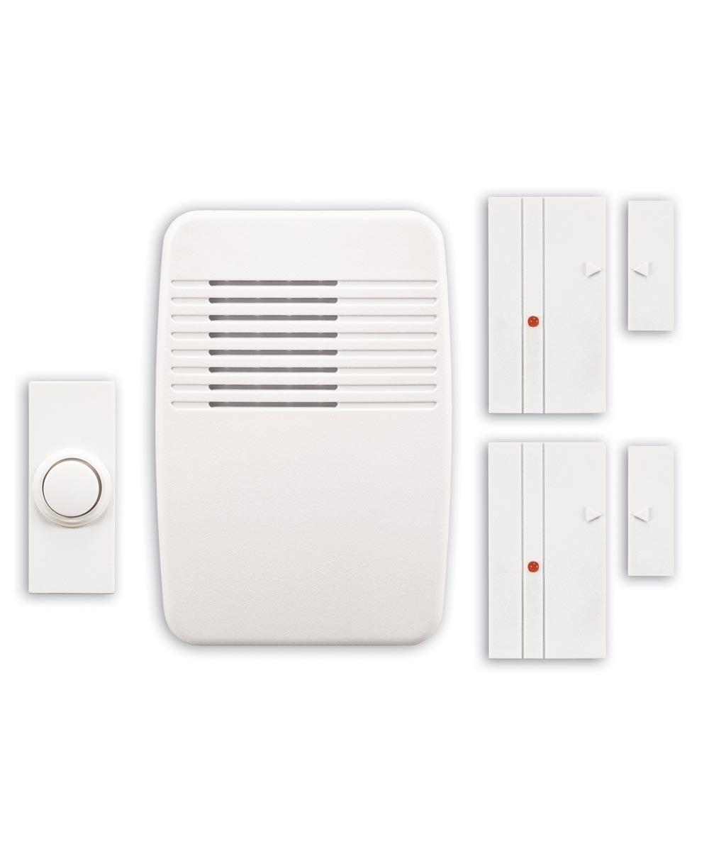 White Entry Alert With 2 Magnet Sensors