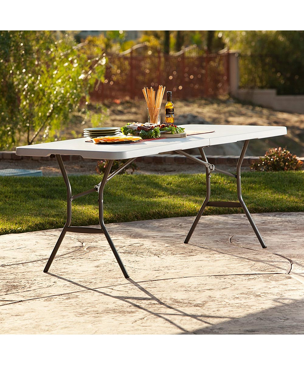 6 ft. Light Commercial Fold-in-Half Table