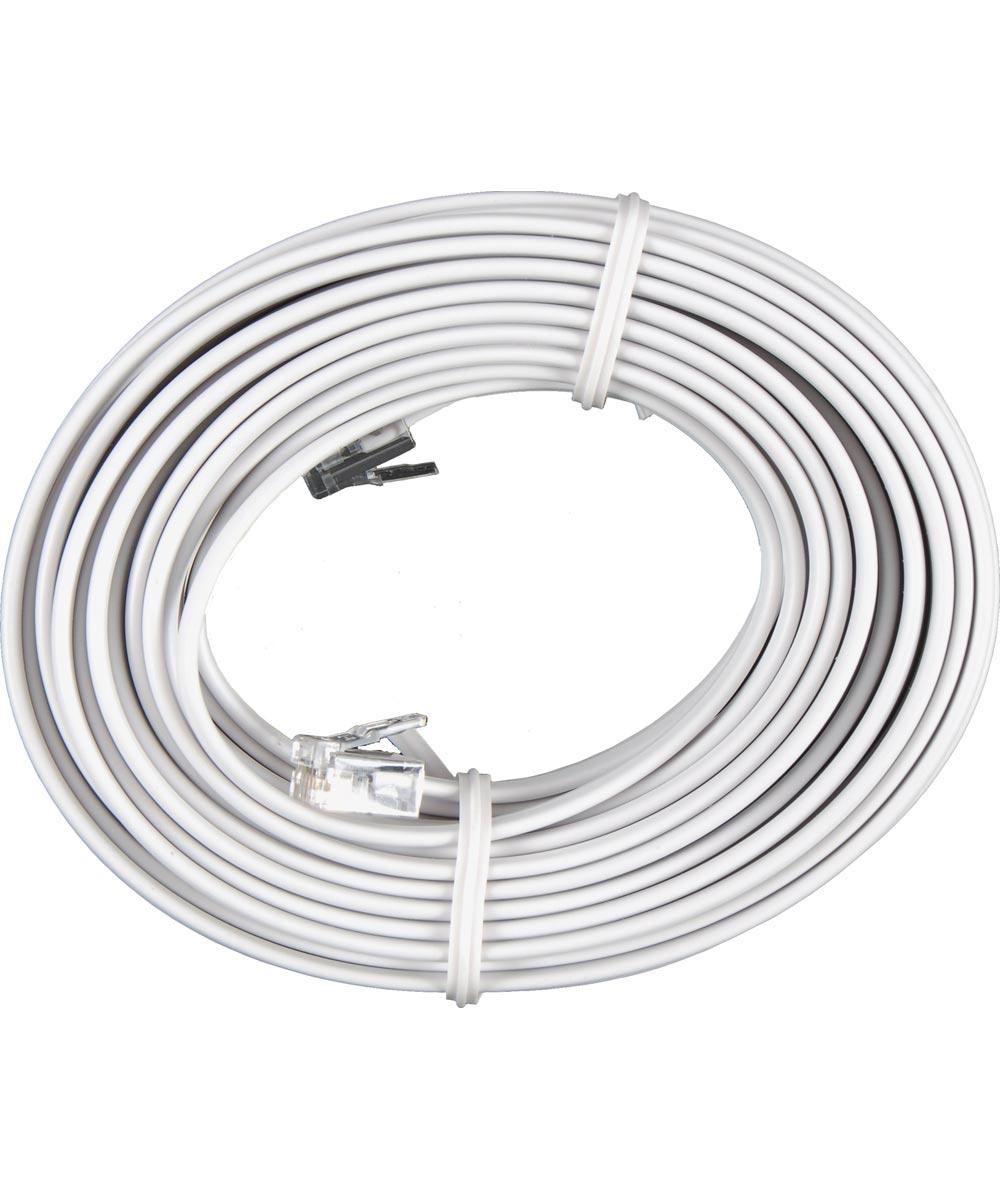25 ft. White Phone Cord