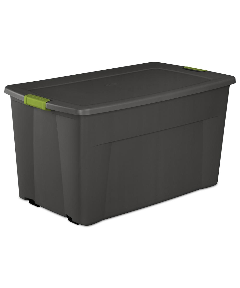 45 Gallon Wheeled Latch Tote Assorted Colors