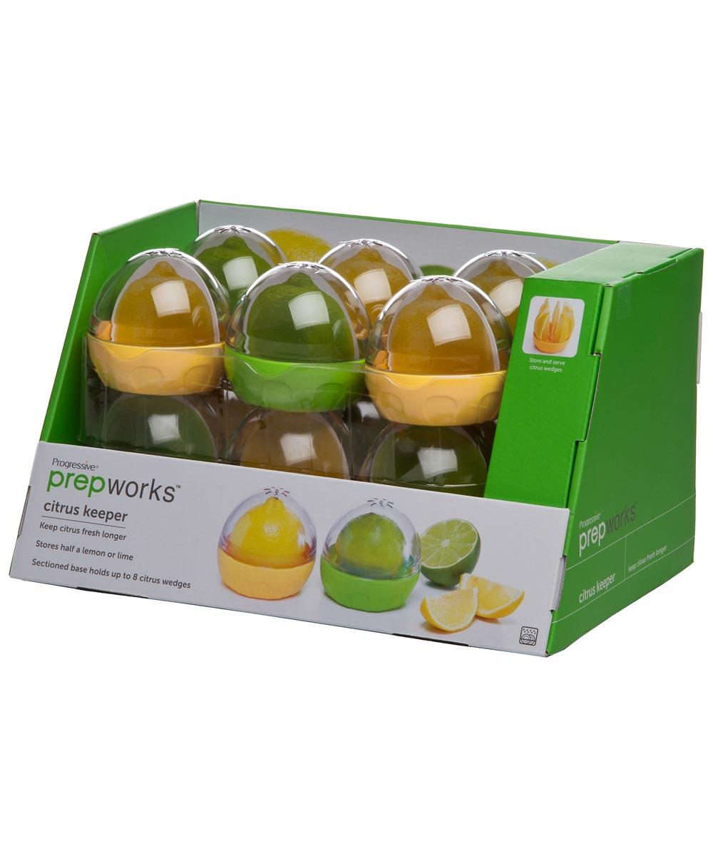 3-1/3 in. x 3-1/3 in. x 3 in. Green Citrus Keeper