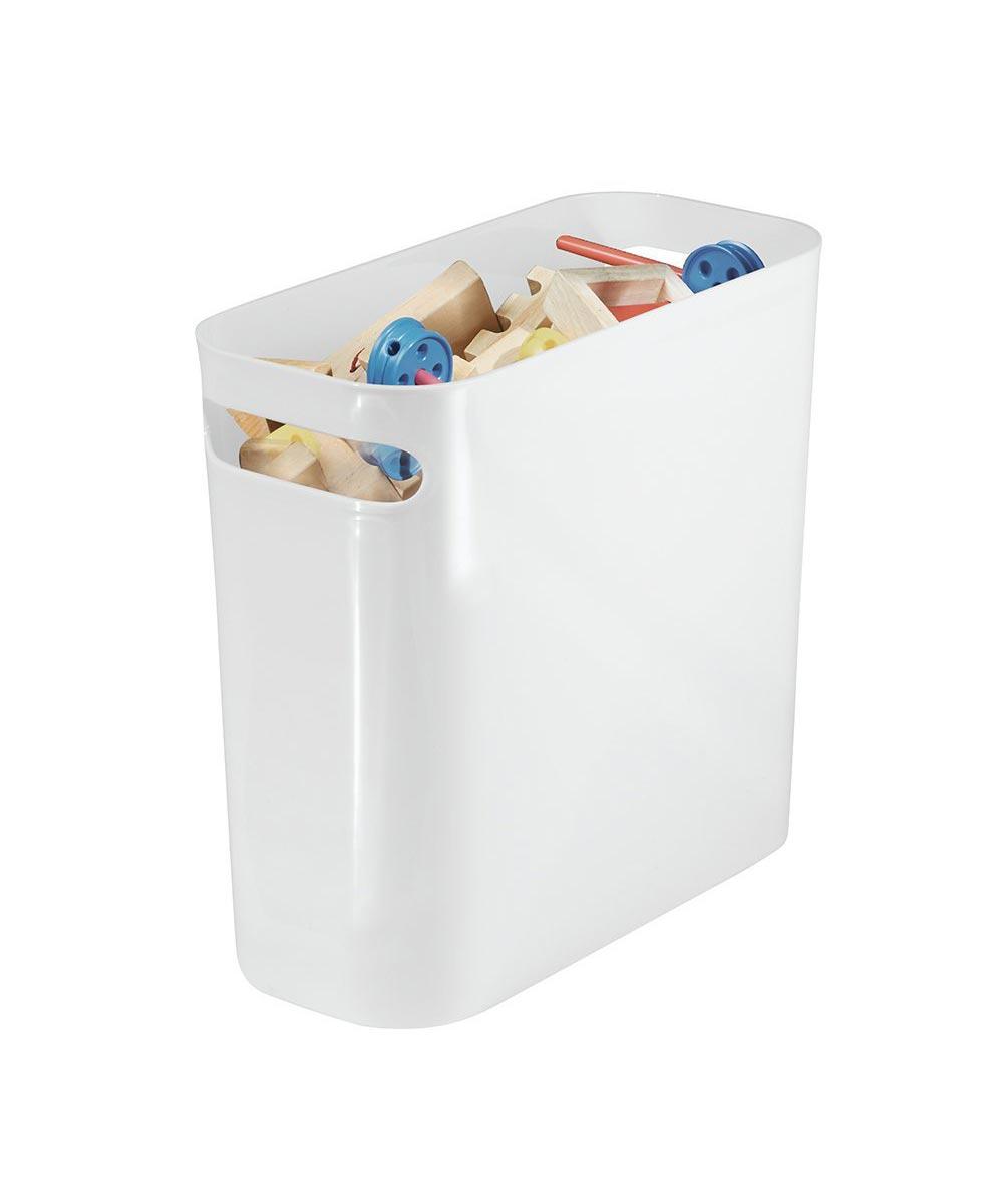 Una 10-Inch Plastic Wastebasket, White