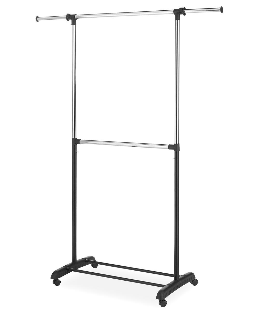 Two Rod Steel Adjustable Garment Rack