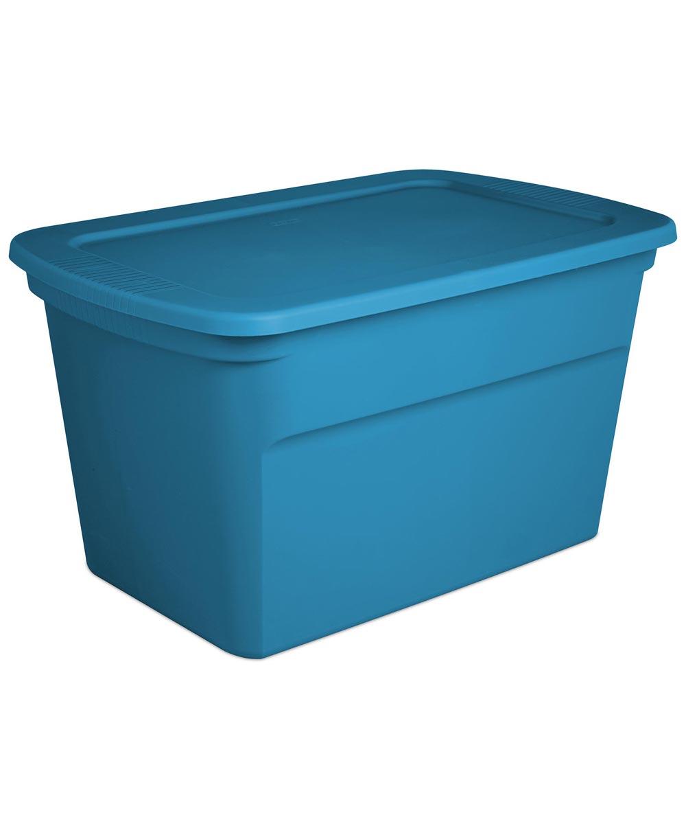 Sterilite 30 Gallon Storage Tote, Blue
