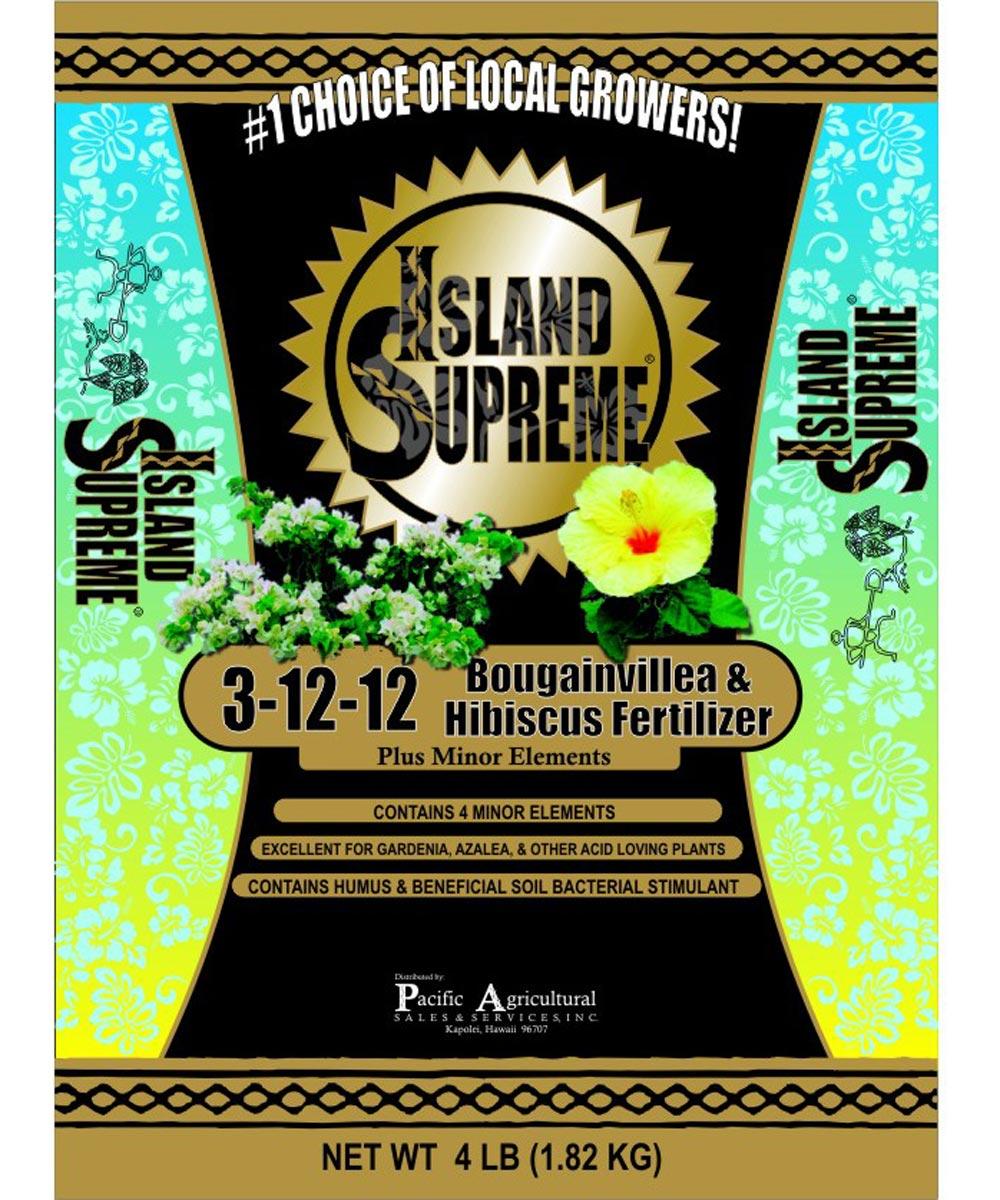 Island Supreme 4 lb. Bougainvillea & Hibiscus Fertilizer, 3-12-12