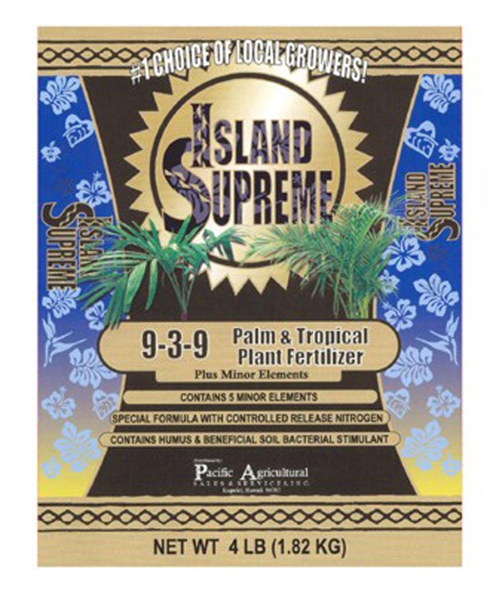 Island Supreme 4 lb. Palm & Tropical Plant Fertilizer, 9-3-9