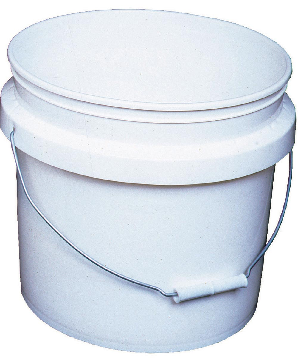 3.5 Gallon White Industrial Pail