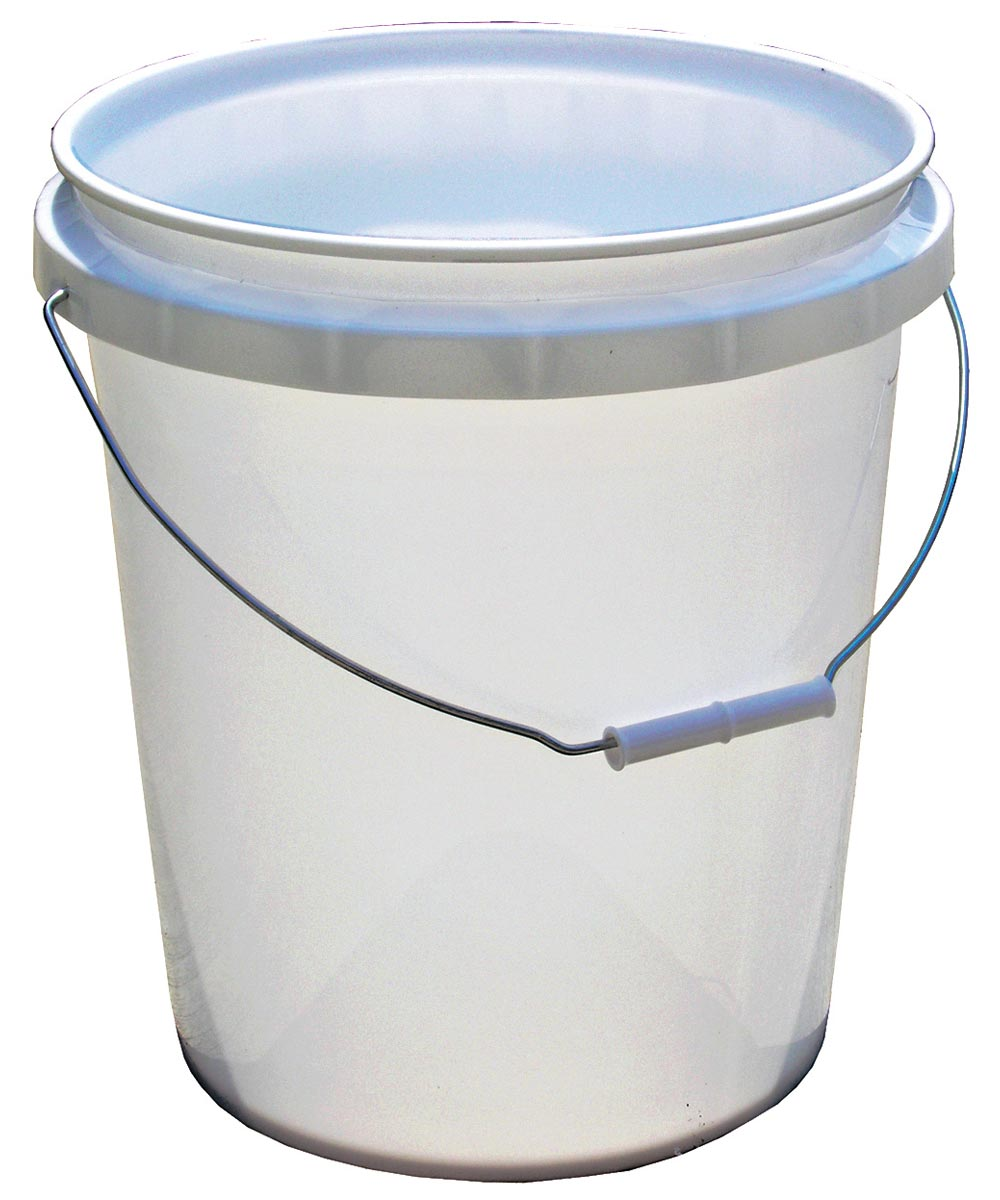 5 Gallon White Plastic Pail