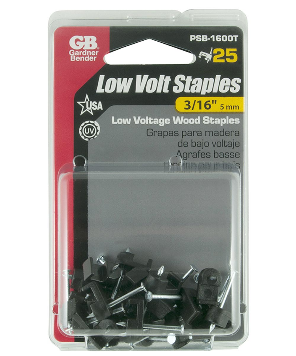 3/16 in. Black Insulated Staples Bell Wire 25 Count