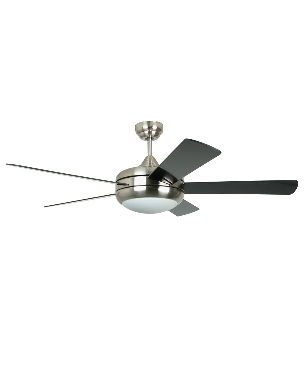 Litex 52 in. Titan 5 Blade Ceiling Fan with Light & Remote Control, Satin Chrome