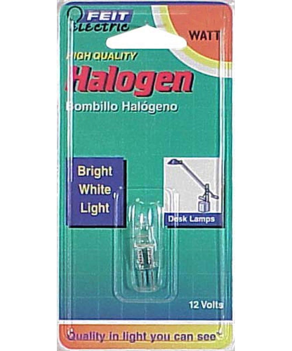 Feit Electric 10 Watt Halogen Quartz T3 Bi Pin Light Bulb