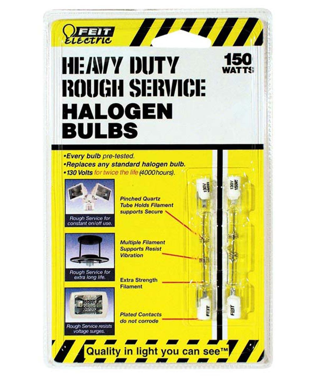 Feit Electric 150 Watt Heavy Duty Double Ended T3 Halogen Bulb 2 Pack