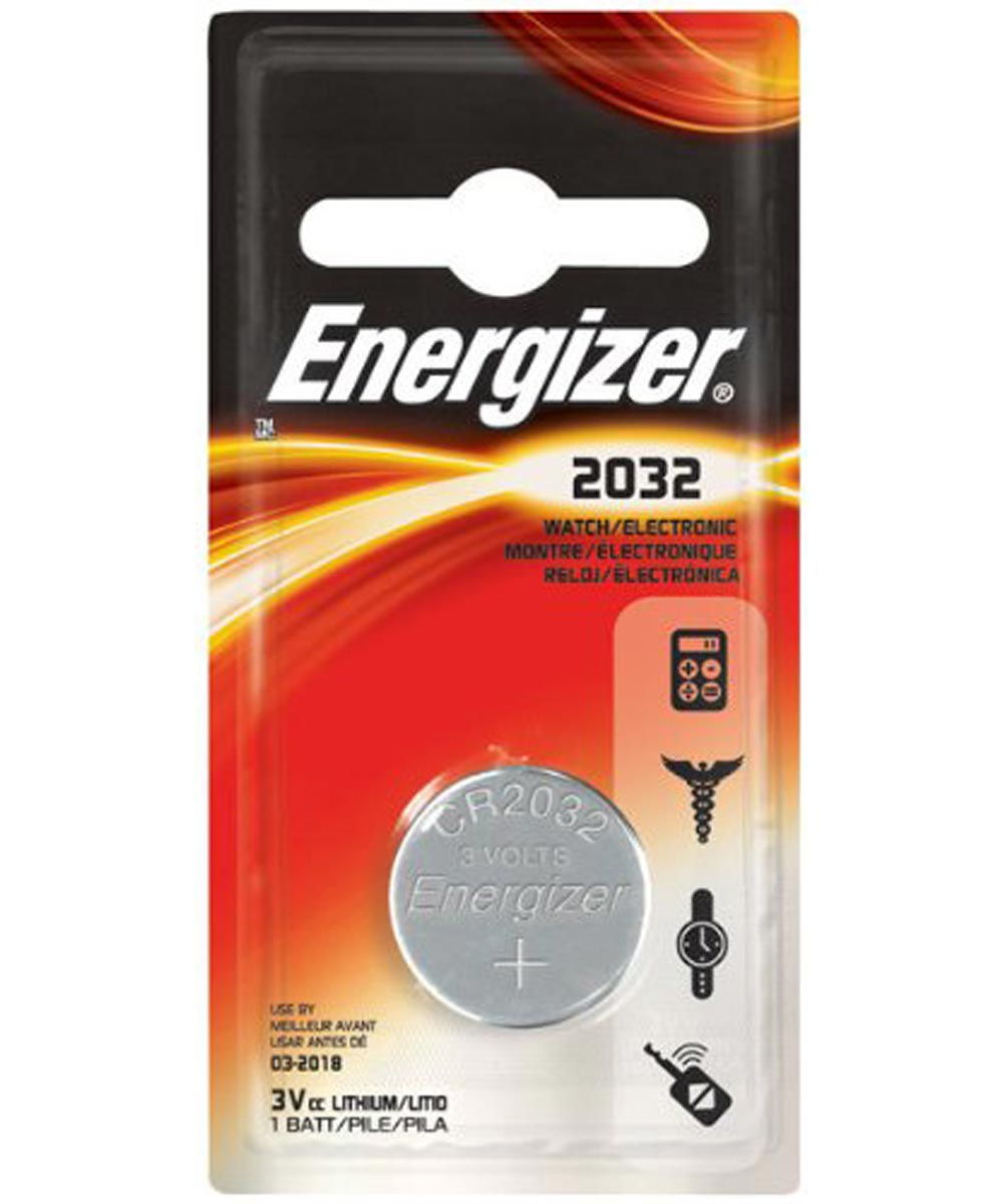 Energizer 2032 Lithium Watch/Electronic Battery, 1 Pack