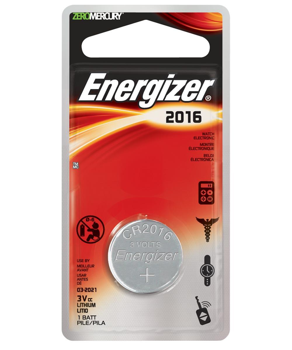 Energizer 2016 3V Lithium Battery, 1 Pack