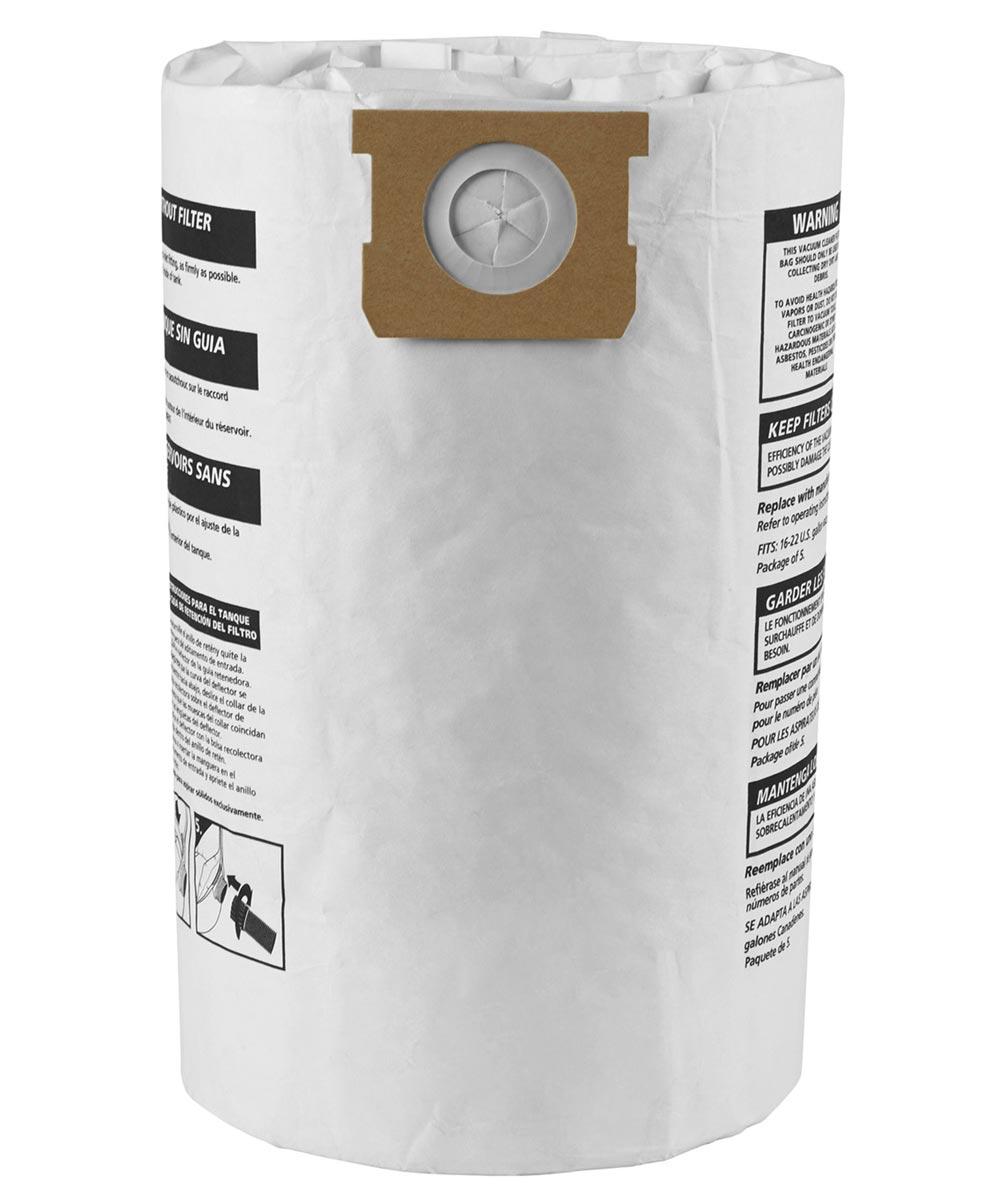 Shop-Vac 16-22 Gallon Disposable Vacuum Filter Bags, 3 Pack