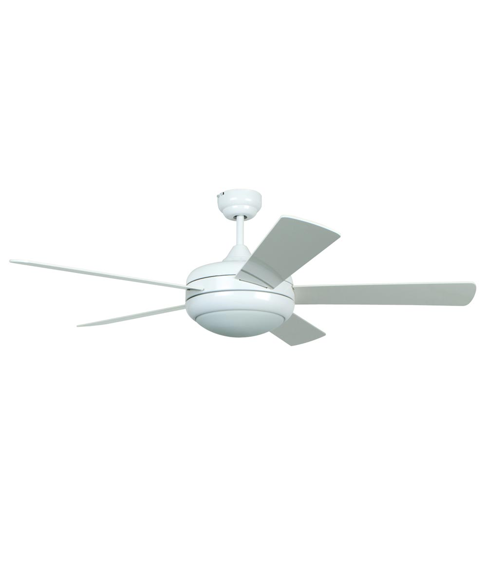 Litex 52 in. Titan 5 Blade Ceiling Fan with Light & Remote Control, White