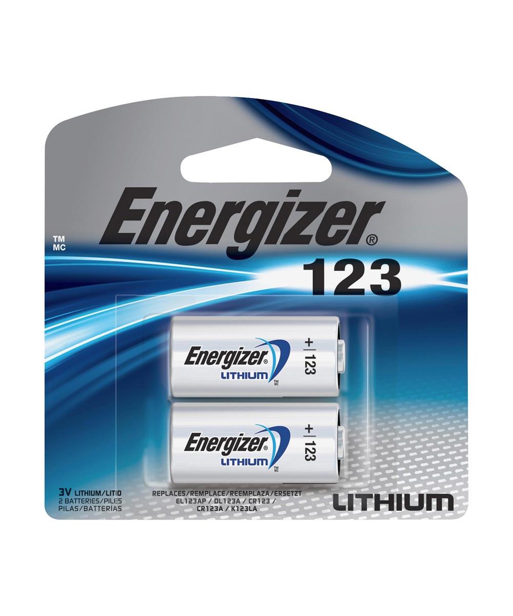 Energizer E2 123 3V Lithium Photo Battery, 2 Pack