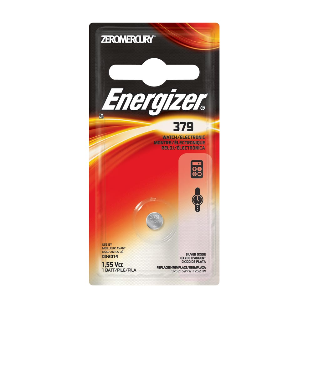Energizer 379 Watch/Electronic Battery, 1 Pack