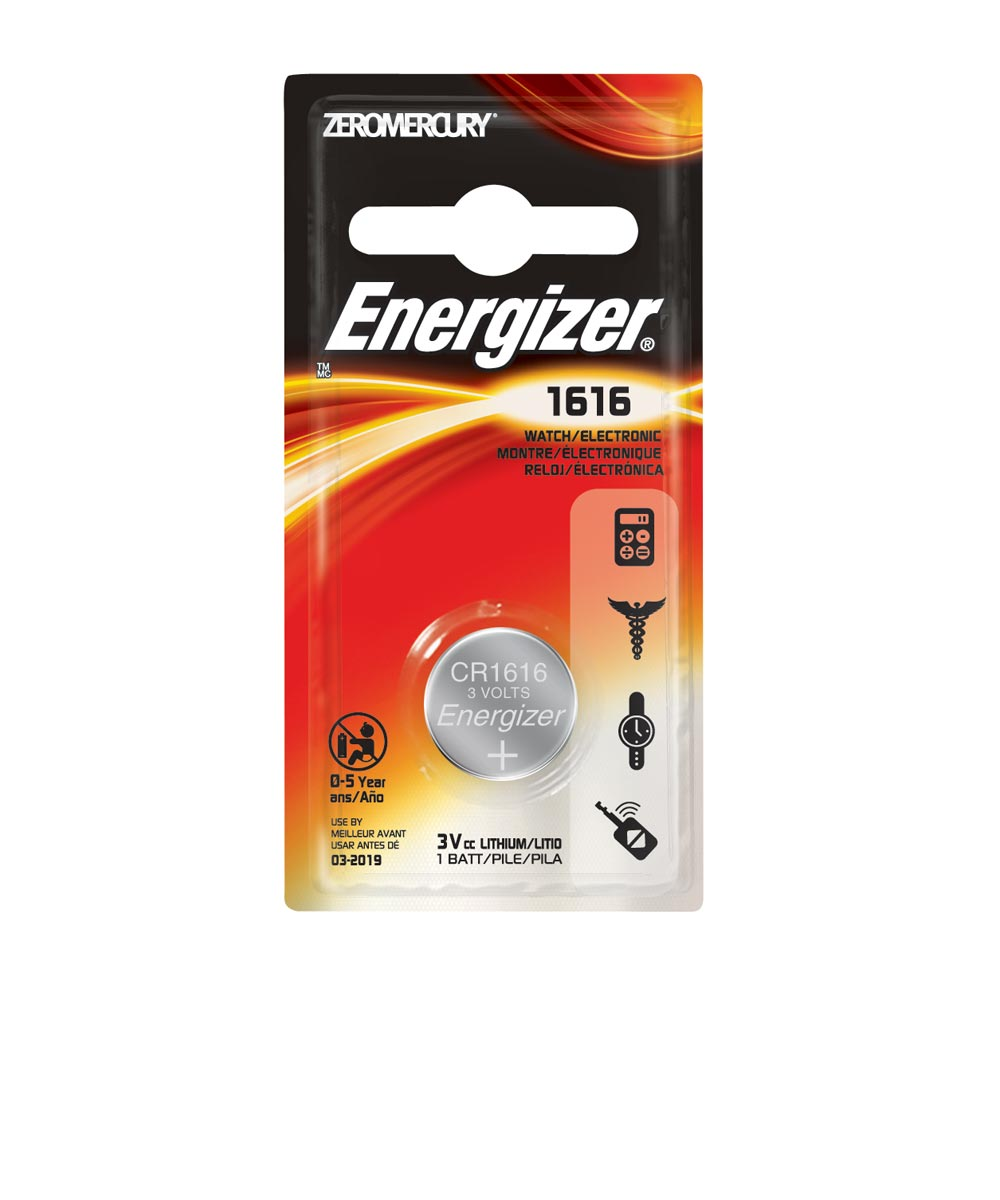 Energizer 1616 Watch/Electronic Battery, 1 Pack