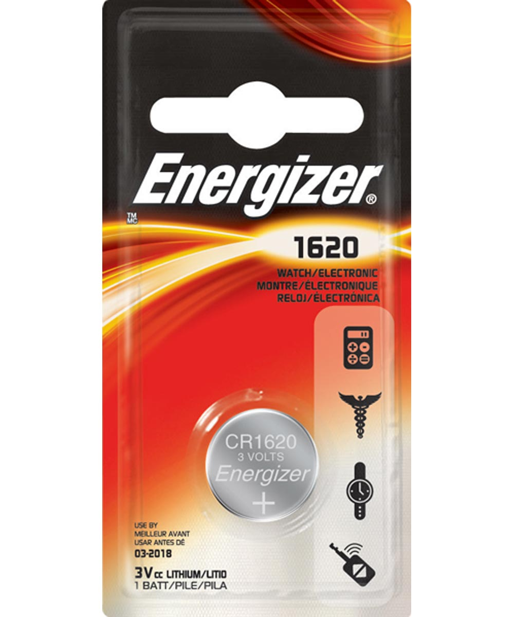 Energizer 1620 Watch/Electronic Battery, 1 Pack