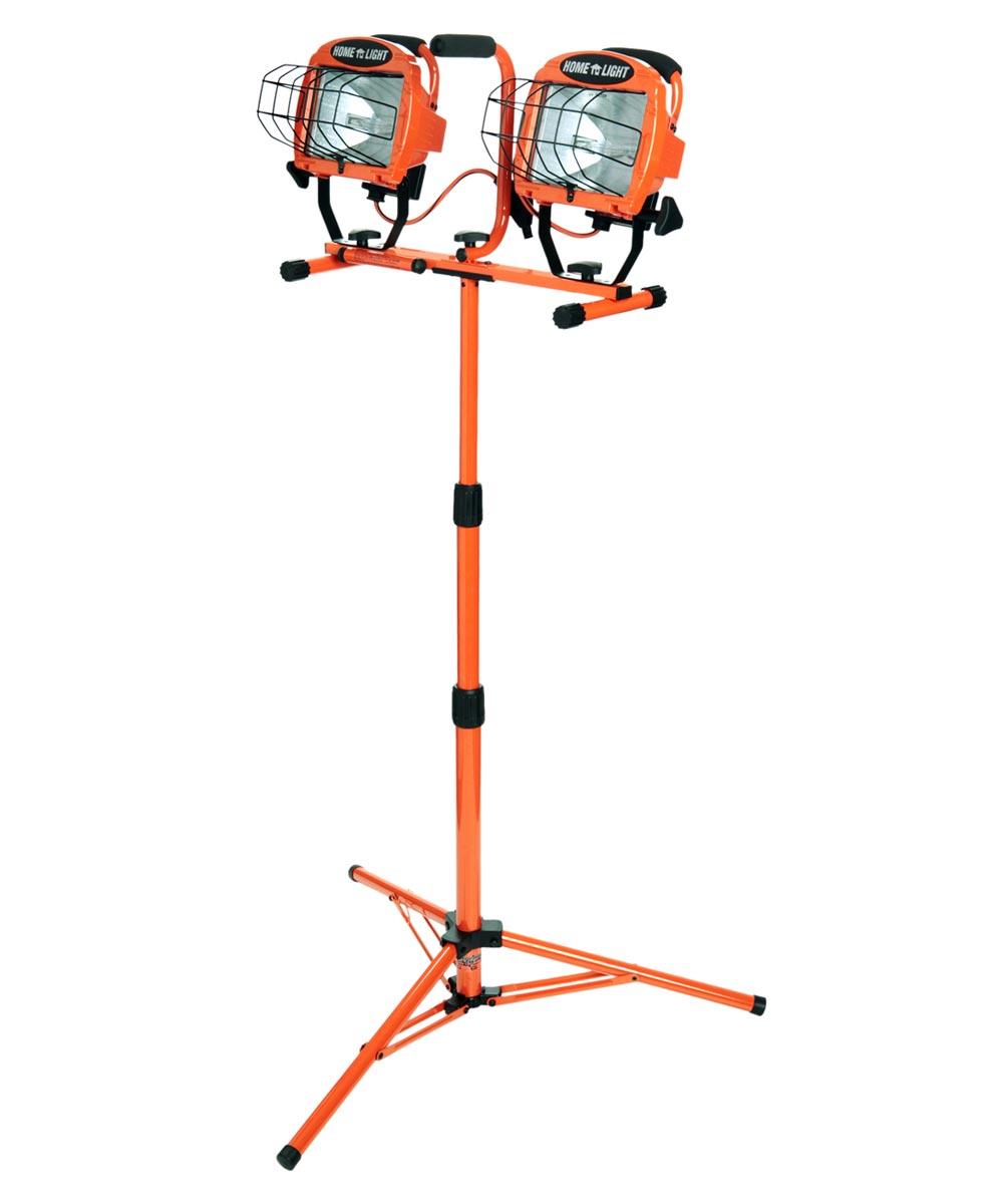 1000 Watt Adjustable Twin Head Halogen Work Light With Stand