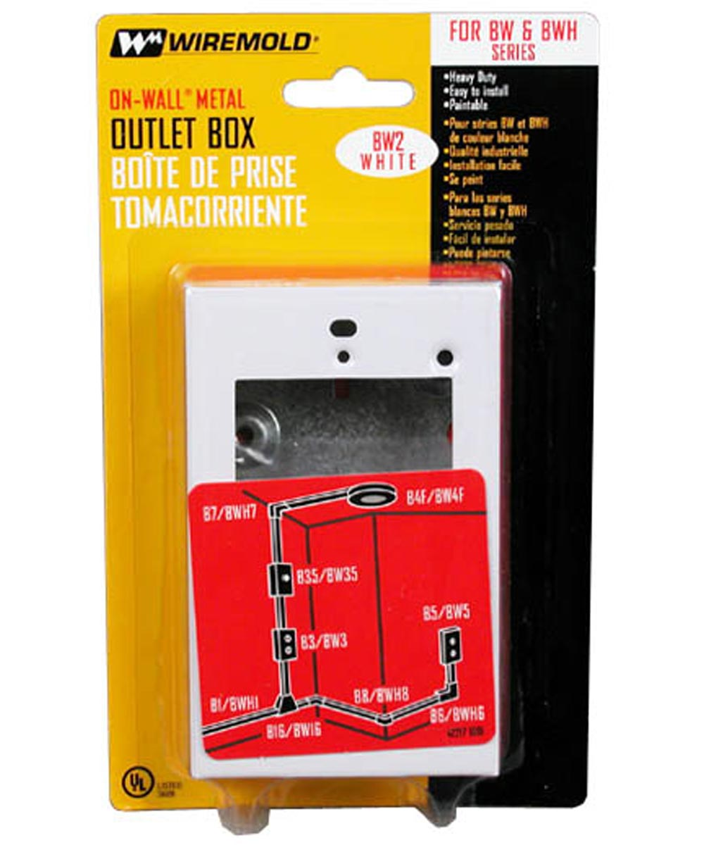 Single Gang White Shallow Outlet Box