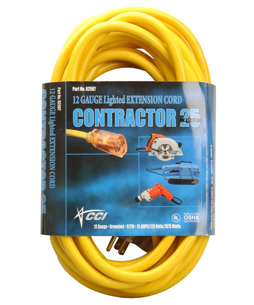 50 ft. Yellow Extension Cord
