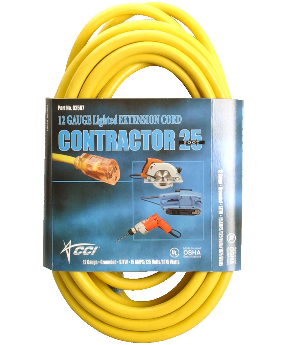 25 ft. Yellow Extension Cord