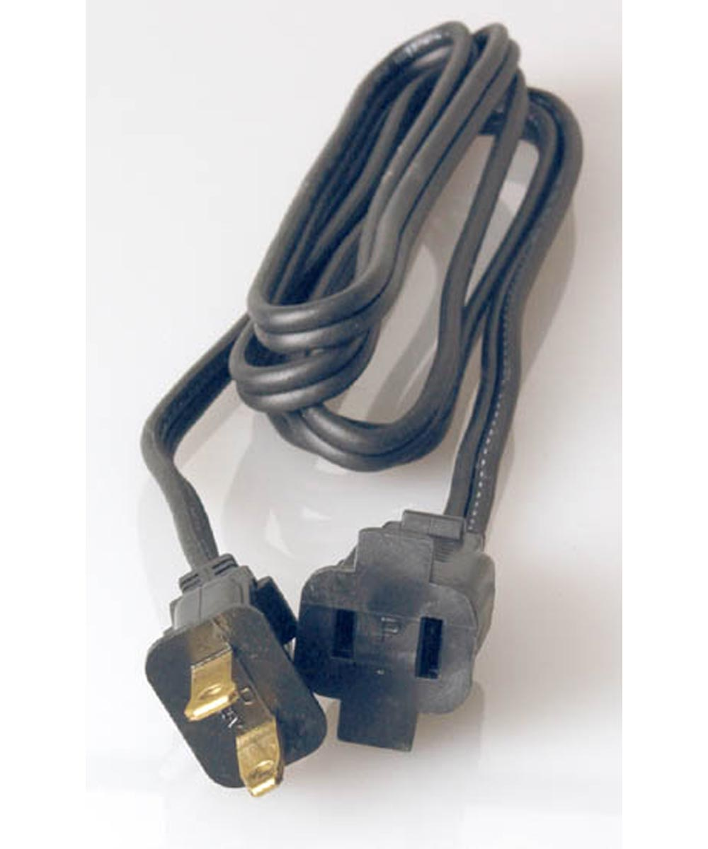 6 ft. 16/2 Wire Gauge Black Small Appliance & Heater Cord