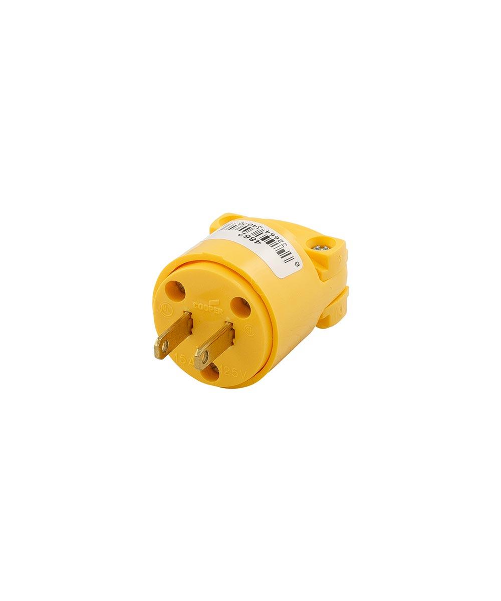 Plug, 2 Wire, Vinyl, Yellow
