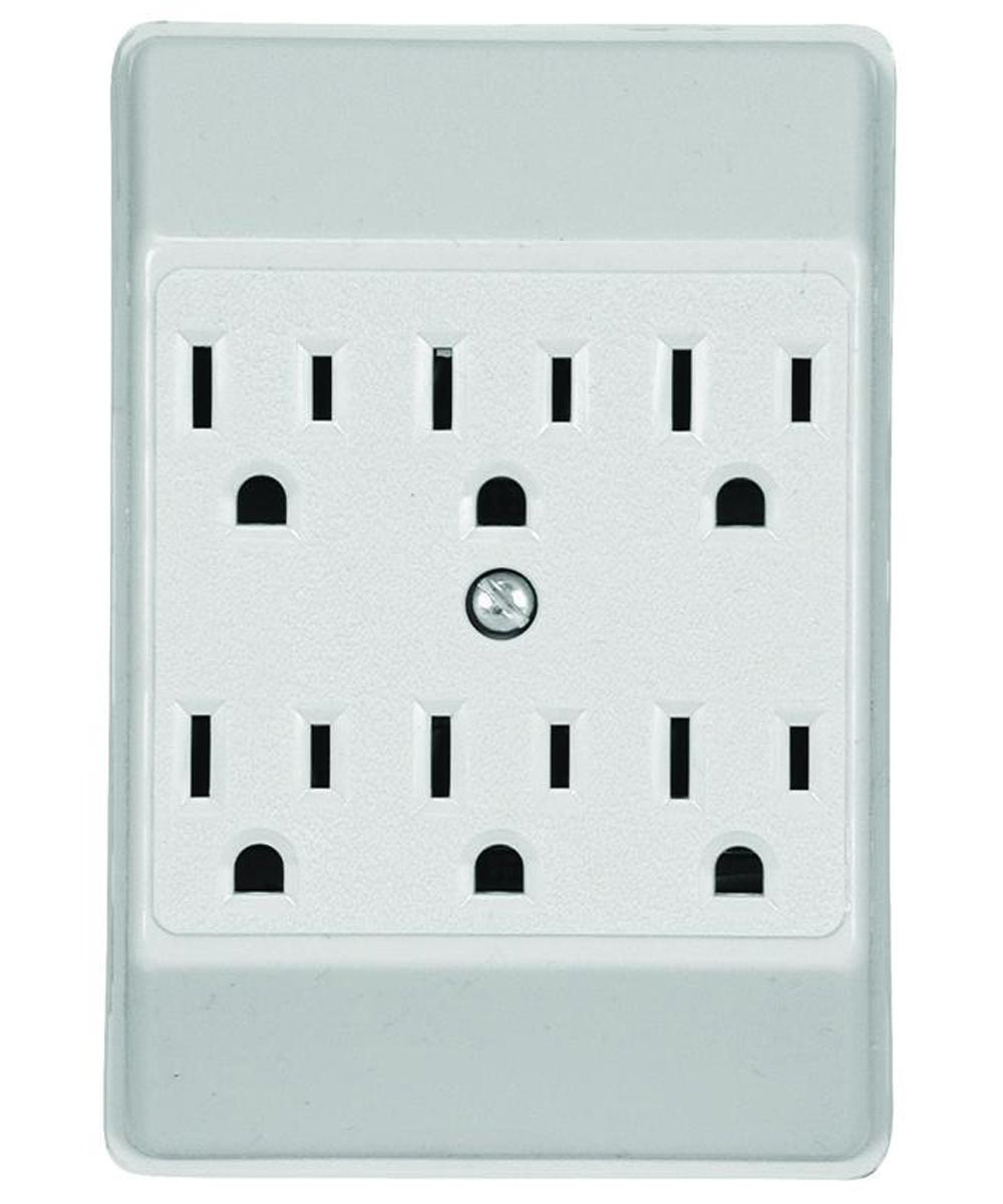 6 Outlet Tap, White