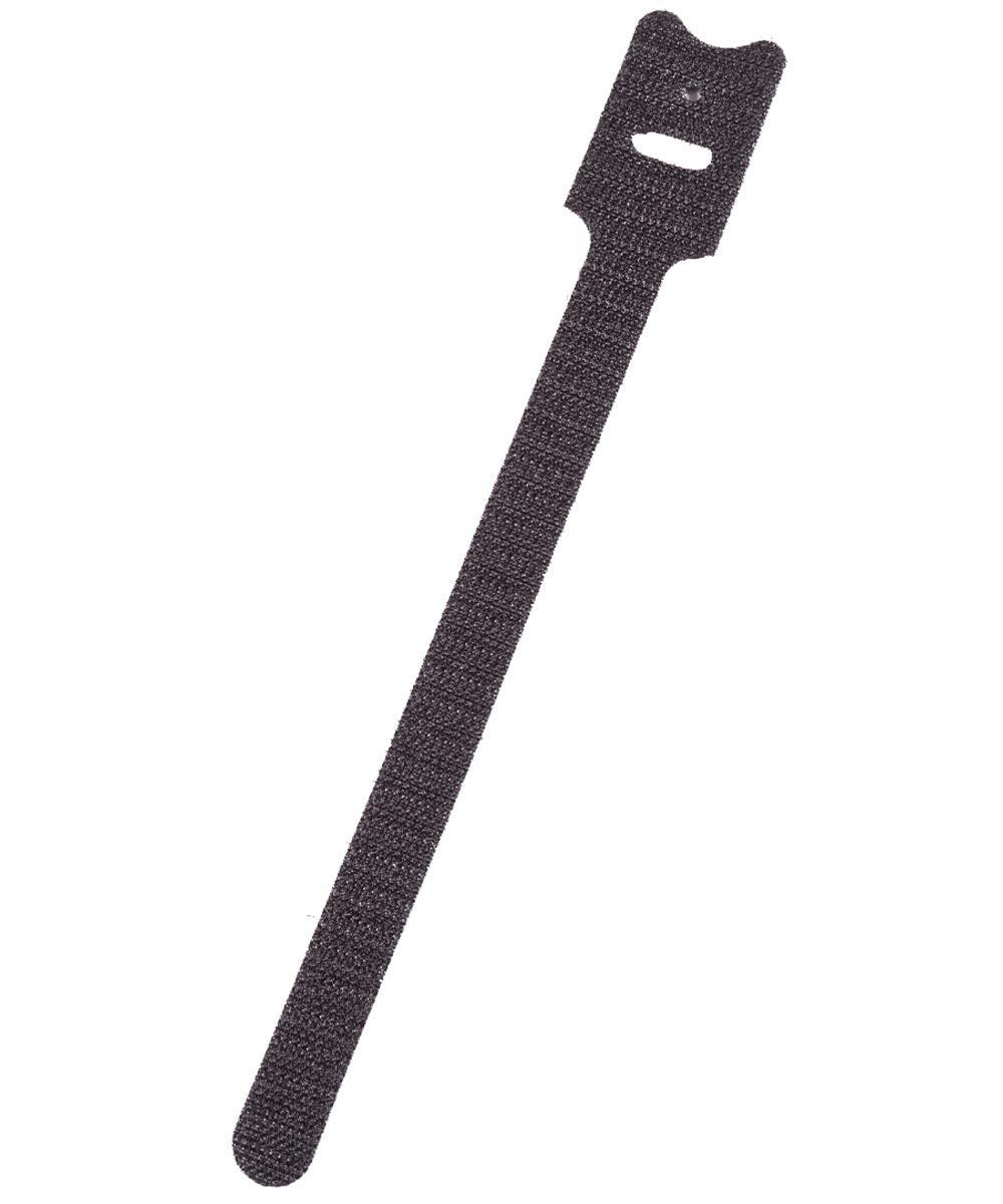 8 in. Black Grip-Strip Hook & Loop Fasteners 5 Count