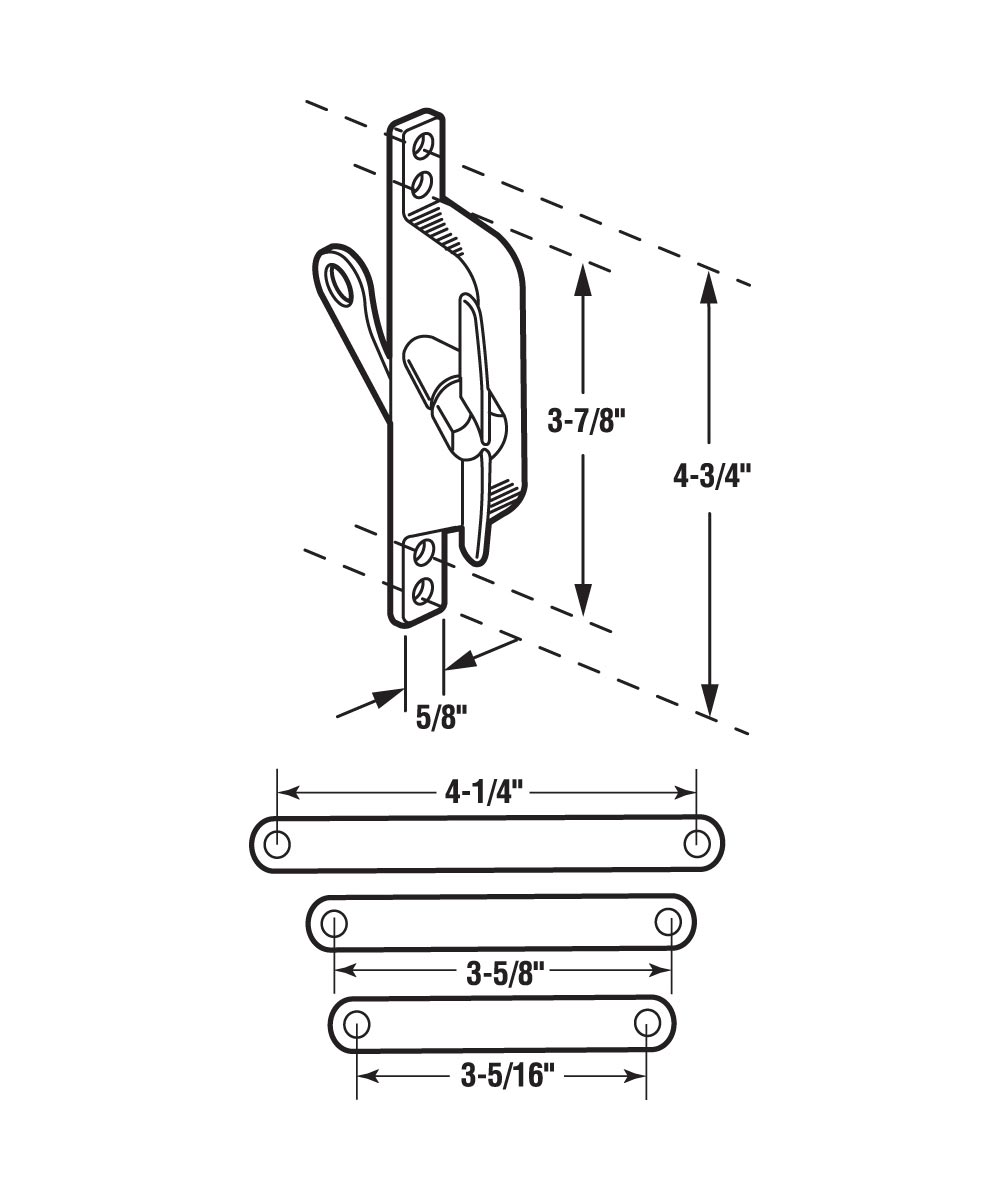 Jalousie Operator, 3 Link Arms, Aluminum, Tee Handle,  1 per pkg.