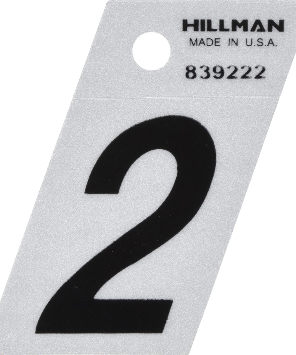 1.5 in. Black and Silver Reflective Adhesive Number 2