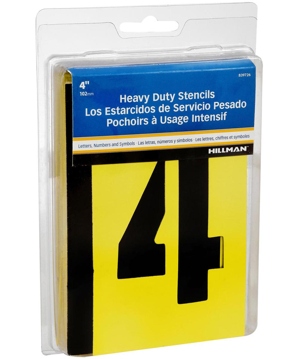 4 in. Letter and Number Stencil Pack