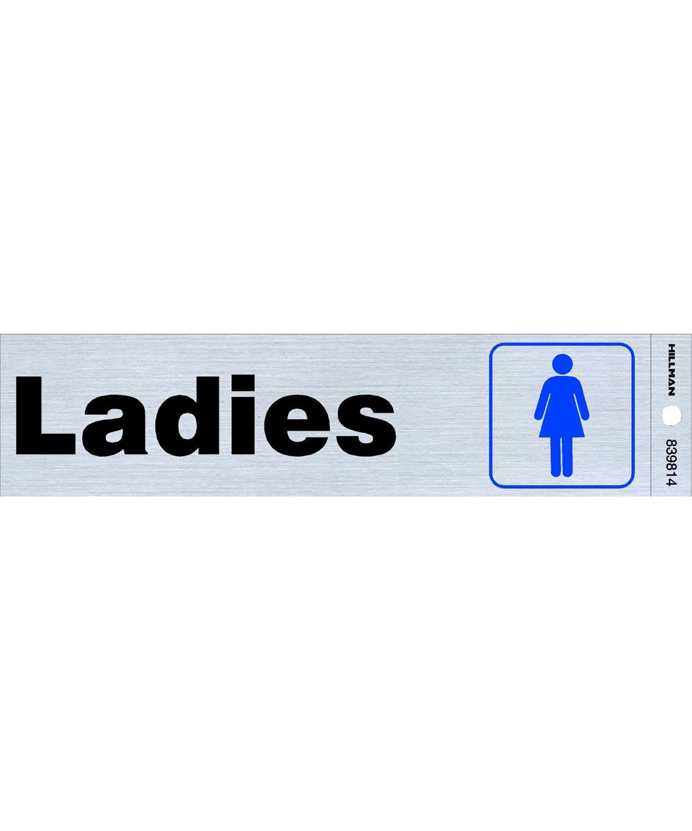 Ladies Restroom Sign 2 in. X 8 in.