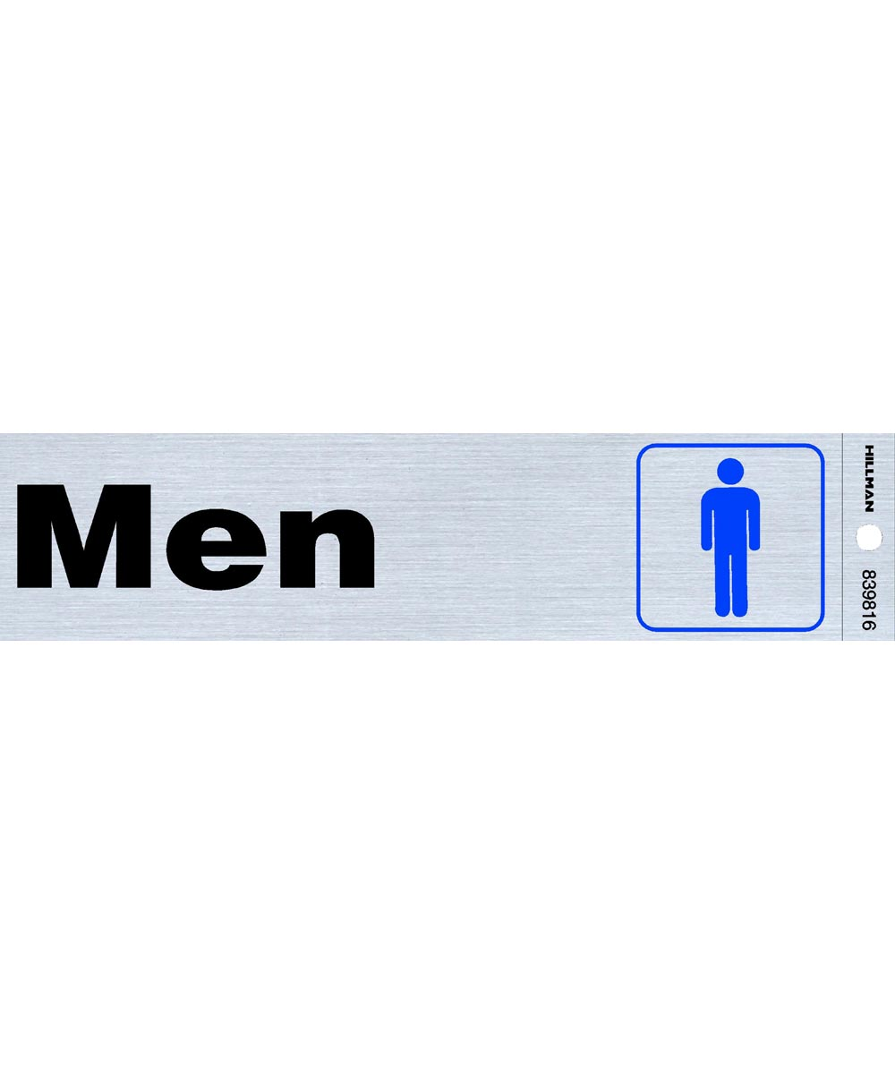 Men ft.s Restroom Sign 2 in. X 8 in.