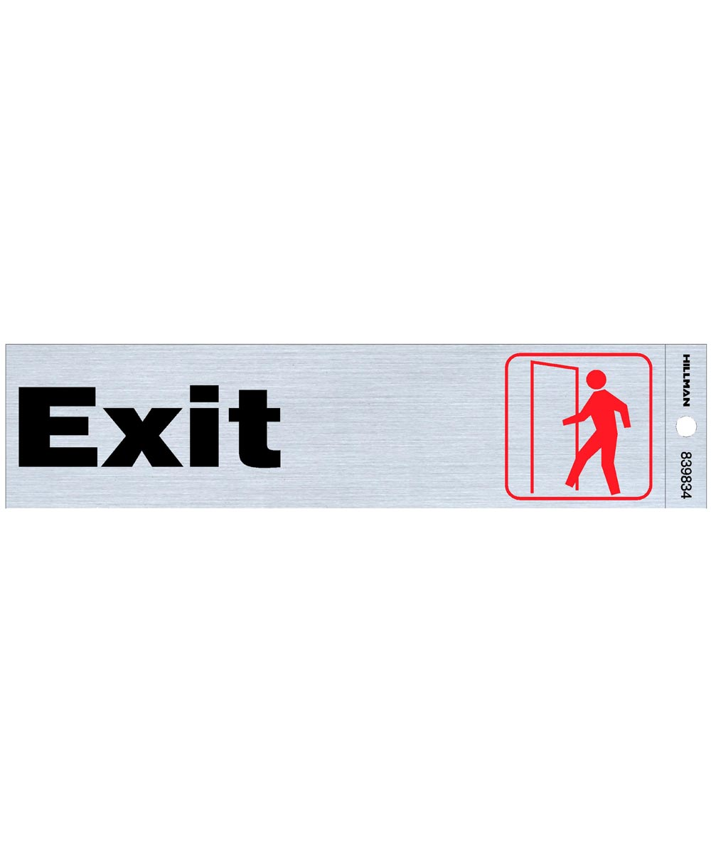 Exit Sign 2 in. X 8 in.